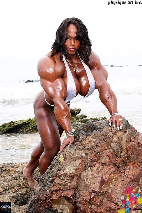 Kim Harris Female Muscle Morphs Bodybuilder