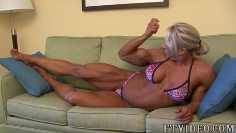 Julie Bourassa Female Muscle Bodybuilder FTVideo