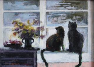 2 czarne koty