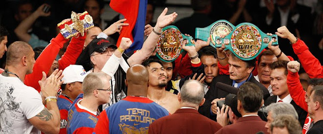 Pacquiao won over hatton!