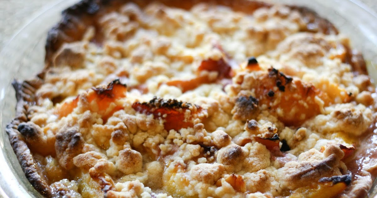 Une-deux senses: Peach & Creme Fraiche Pie