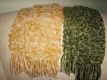 cachecol que dobra de tamanho em trico