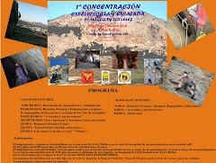 1ª concentración de espeleología y escalada de Los Vélez