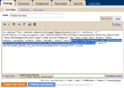 unggah gambar diblog html