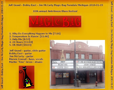 Jeff Grand - Bobby East - Jim McCarty - Magic Bag Ferndale - Michigan - 2010-01-15