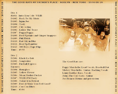 The Good Rats - My Father's Place - Roslyn - New York - August 20th 1974