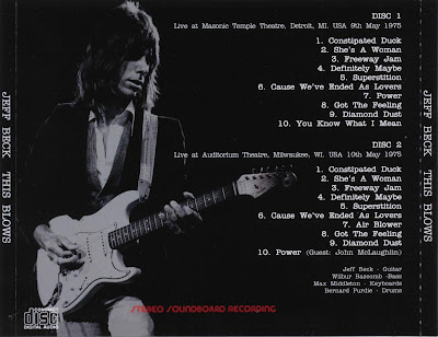 Jeff Beck - This Blows - Live Detroit & Milwaukee - 1975-05-09 & 1975-05-10