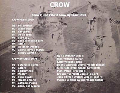 Crow - Crow Music & Crow By Crow (1969/1970 US Strong Bluesy Hard Rock - Wave)