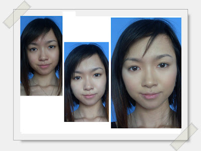 First picture: bare moisturized face. I am having a case of breakout cos