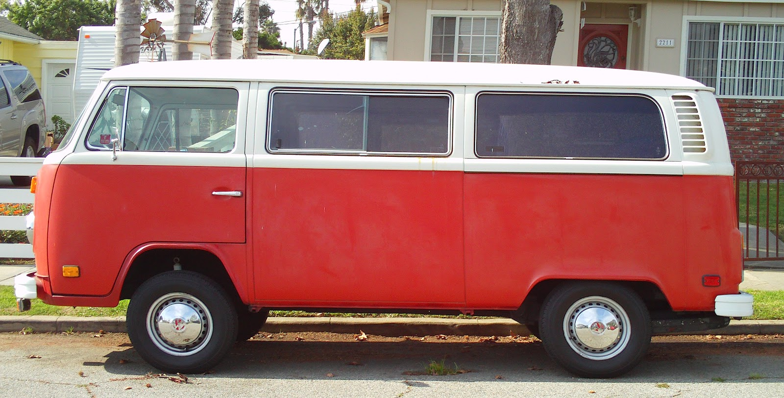 Vw Bus While Driving Through Torrance Ca Running Errands The