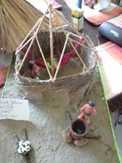 El Palacio de los Ochoa Manualidades  Maqueta vivienda indgena