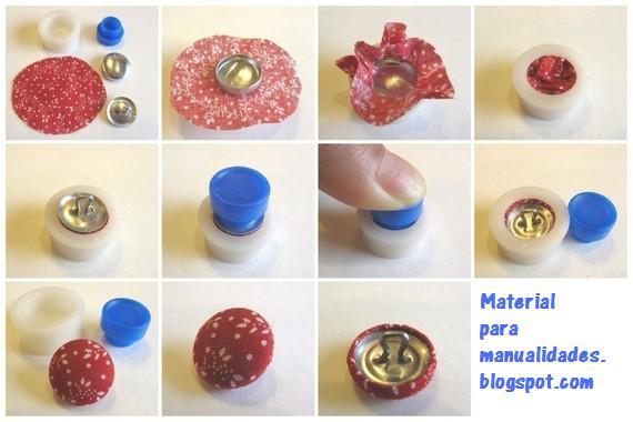 Material para manualidades blog kit para forrar botones - Botones para forrar ...