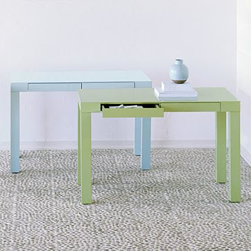 Wish List: West Elm Parsons Desk In Glossy White Lacquer