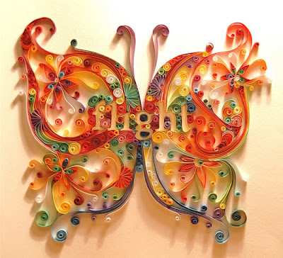 Quilling paper artworks