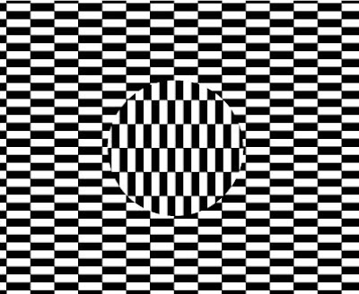 Visual illusions moving patterns