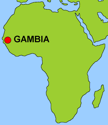 Info Gambia English Gambia Location and Map