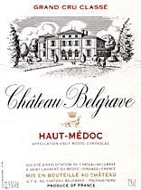 Château Belgrave - Etiquette