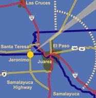 Map of Santa Teresa-Juarez
