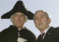 A fake president and an actor impersonating George Washington