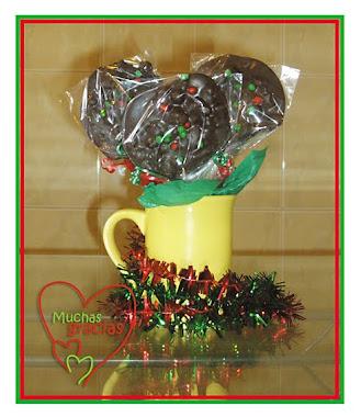 Paletas Navideñas de Chocolate