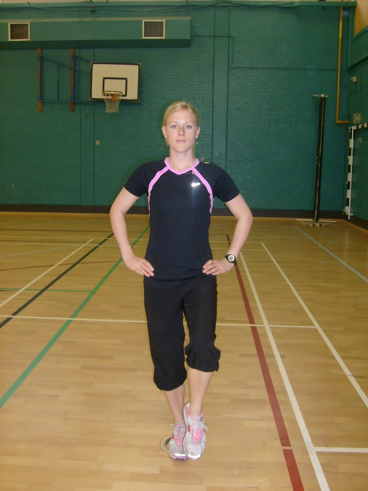 Balance On One Foot Hands On Hips
