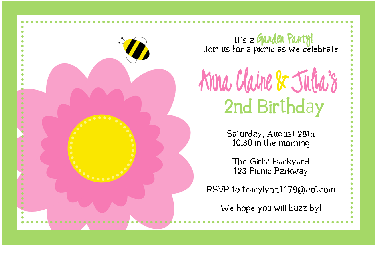 Garden Party Collection Sweet Peach Paperie – Garden Party Invitation Wording