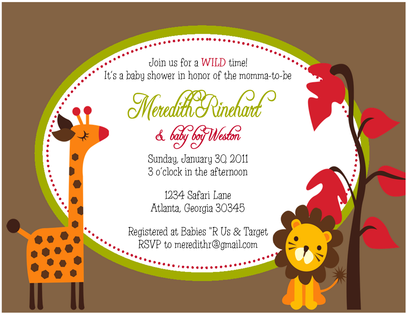 The Sweet Peach Paperie: Jungle Safari Party