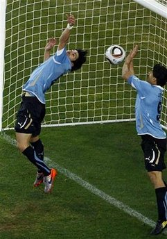 URUGUAYAN LUIS SUAREZ HAND OF SHAMEFUL DESPERATION!
