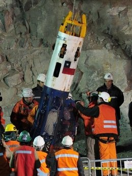CHILEAN MINE RESCUE PROGRESSING VERY WELL AND AHEAD OF TIME!