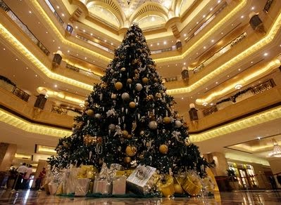 ONE HECK OF VERY EXPENSIVE CHRISTMAS TREE IN A MUSLIM NATION!