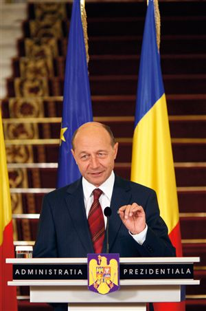 President Traian Basescu, scared of Romanian witches' spell?
