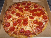 . pizza for lunch and oh wow I super love Pepperoni Pizza.