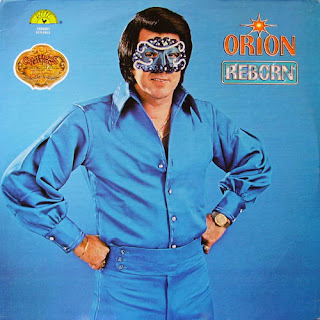 funny strange album covers orion reborn blue suit and mask like lone ranger