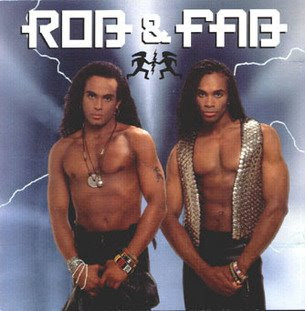 funny album covers of rob and fab of milli vanilli