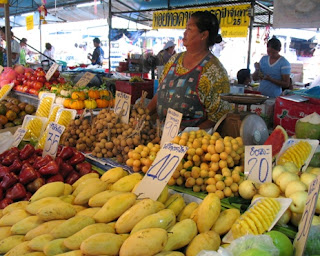 Fruit stall at the weekend market