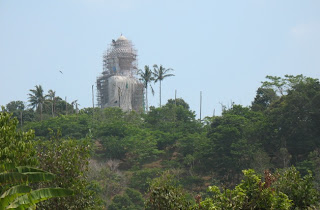 Big Buddha viewed from the road going up the mountain
