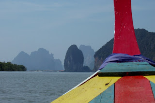 View from longtail to Koh Panyee, Phang Nga Bay