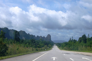 View on the road from Surat Thani to Krabi, 11th May