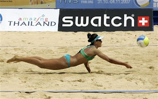 World Volleyball tour on Karon Beach, Phuket - photo from the FIVB website