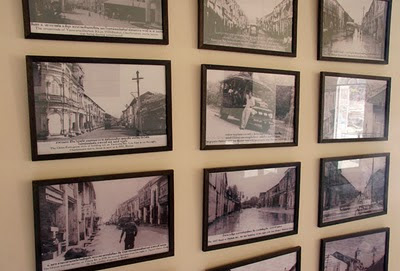 Old photos at the mining museum