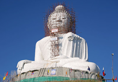 The Big Buddha with some scaffolding