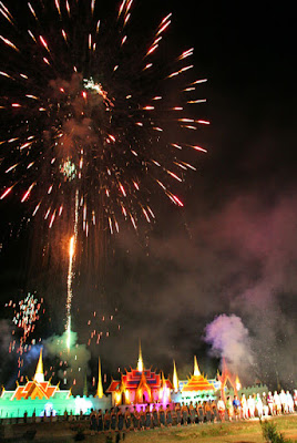 Fireworks at the festival, 13th March