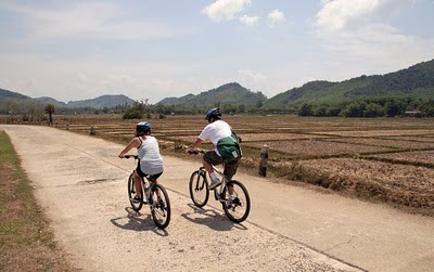 Cycling along the west coast of Koh Yao Noi