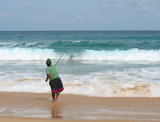 Fishing at Karon beach