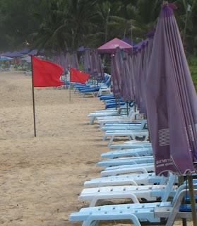 Empty beach chairs, Karon beach