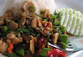 Vegetarian Phad Gaprao close up