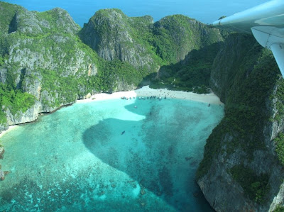 Flying over Phi Phi Islands