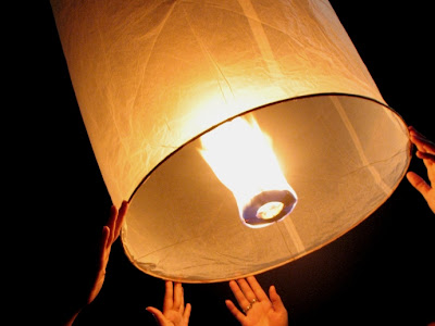 Letting go of the Loy Krathong Lantern