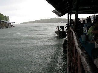 Rain at Bang Rong in Phuket January 1st
