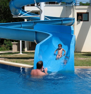 Fun on the waterslide, 24th January